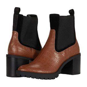 Dolce Vita Boots Nayden Brown Croc Booties